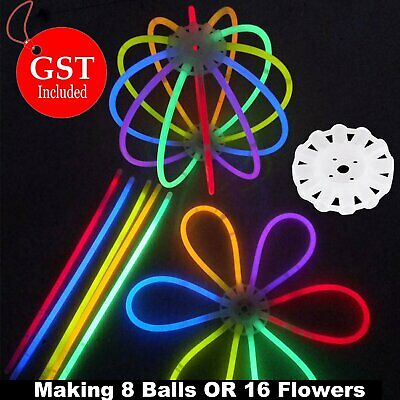 100 mixed Color Glow Sticks + a special connectior Light Bracelets Disco Party