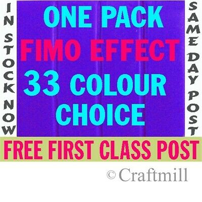 1 Block FIMO EFFECTS SOFT Polymer Clay - FREE 1ST CLASS POST-Pick from 24 cols