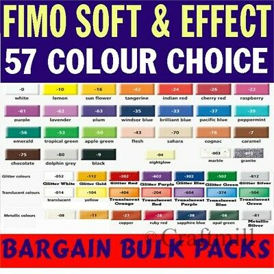 FIMO SOFT & EFFECTS BULK MULTIPACKS Choose Colours MODELLING POLYMER CLAY