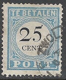 Netherlands 1881 NVPH Due 11AIV  CANC  VF