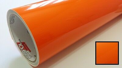 "Amber Orange Transparent Vinyl for Corner Lights & Side Markers 24"" Film Tint"