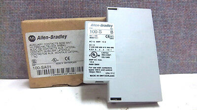 Allen Bradley Auxiliary Contact Side Mount 100-Sa01 Ser. B New 100Sa01