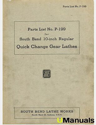 South Bend 10-Inch Lathe Parts Manual