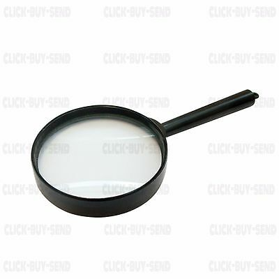 MAGNIFYING GLASS MAGNIFYING GLASSES 60 mm GLASS LENS X 5 MAGNIFICATION NEW
