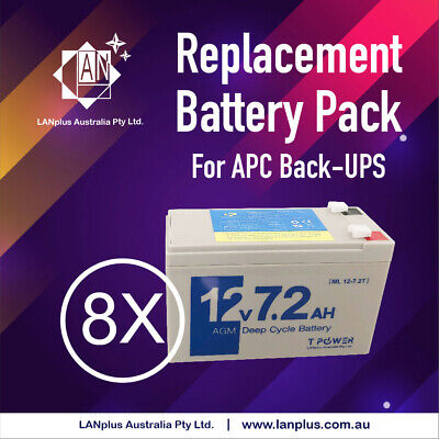Battery Pack for APC Battery replacement RBC12 4 UPS 2200 3000 12-month warranty