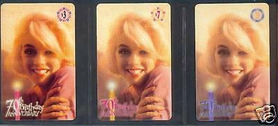 Marilyn Monroe - phonecard - GEM set 5 - 70th Birthday