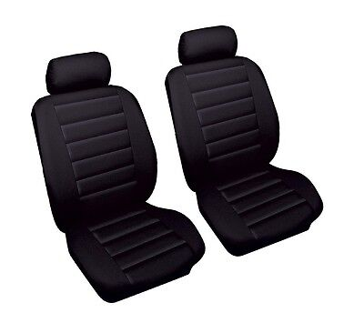 Leather Look Car Seat Covers Black TOYOTA MR2 MK2 90-00 Front Pair Airbag Ready