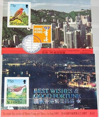 ST HELENA 1997 Block 18-19 S/S 691 Return HK to China Birds Vögel Fauna MNH