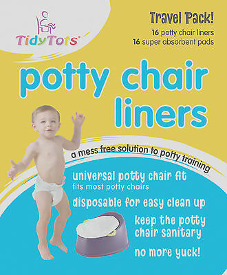 Tidy Tots Disposable Potty chair liners - a mess free solution to potty training