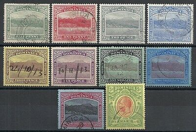 Dominica stamps 1908 SG 47-54  CANC  VF
