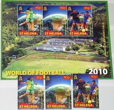 ST HELENA 2010 1117-19 Block 53 Soccer Football World Cup South Africe MNH