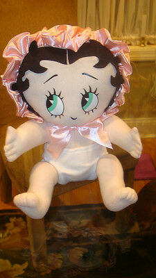 "PLUSH 12"" BABY BETTY BOOP in PINK BONNET DIAPER by KELLYTOY ~ HTF ~ EUC"