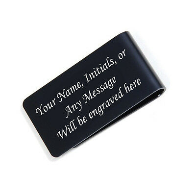 Personalized Free Engraved Black Money Clip Plus free Shipping