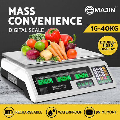Kitchen Scale Digital Commercial Shop Electronic Weight Scales Food 40KG WH