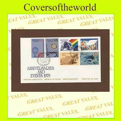 Cyprus 1979 Anniversaries, inc Rotary First Day Cover