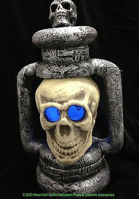 20in Tall GIANT SKULL LANTERN LAMP Gothic Pirate Party Prop Halloween Decoration