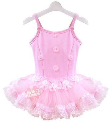 NWT Girls/Toddler Tutu Dance Ballet Dresses Leotards Sleeveless Pink Size 2-6T