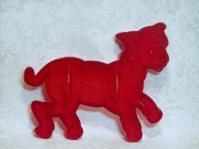 Vintage Red Plastic Cookie Cutter - Spring Lamb Farm Easter