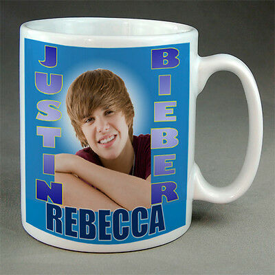 Justin Bieber - Personalised Mug - Your Name, New
