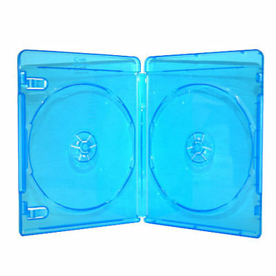 100 12mm Double Blue Case for Blu-Ray BD DVD CD Movie Box