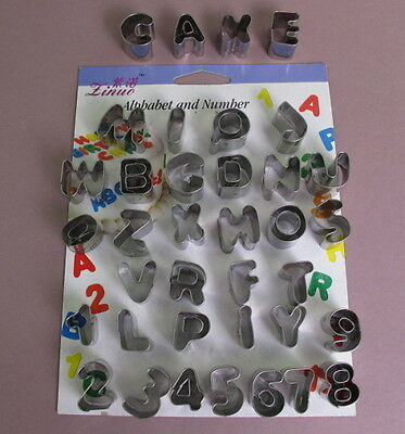 Hot New Alphabet And Number Cake Cookie Cutters Tool For Sugarcraft 1st Classmai