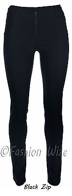 Ladies Hipster Stretch Trousers Sizes 4 6 8 10 12 14 16 Black Grey Skinny Leg