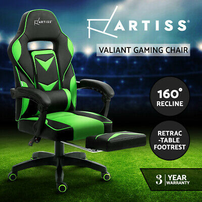 Artiss Office Chair Gaming Veer Drafting Chairs Stool Fabric Computer Chair BK