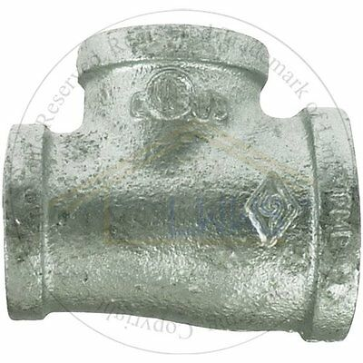 """5 x Gal. Malleable Pipe Fitting  Reducing Tee 1""""x 3/4""""x 3/4"""""""