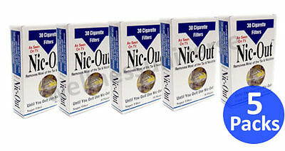 NIC-OUT Disposable Cigarette Filters, 5 Packs