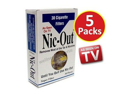 5x NIC-OUT Cigarette Filters, Trap Tar and Nicotine (150 Filters)