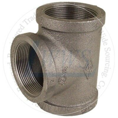 3/8''  Black Malleable Pipe Fitting Tee (Lot of 10)
