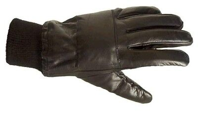 MENS SOLDIER 95 MILITARY GLOVES Gents black leather army driving thinsulate N.I.