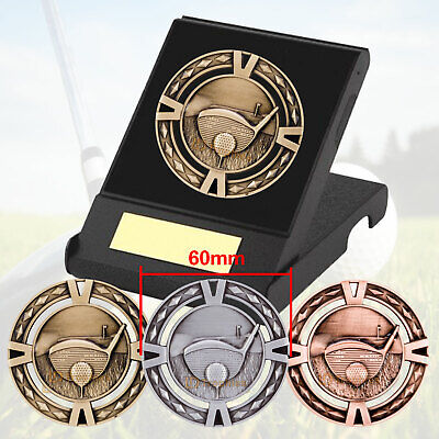 Golf Medal in Presentation Box F/Engraving, Golf Trophies Awards, 60mm Medals