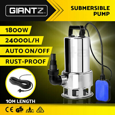 1800W Submersible Dirty Water Pump Bore Sewage Septic Tank Garden Sewerage Clean