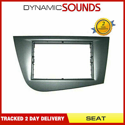 DFP-18-02 Car CD Stereo Grey Double Din Fascia Panel Adaptor For SEAT Leon 2006>