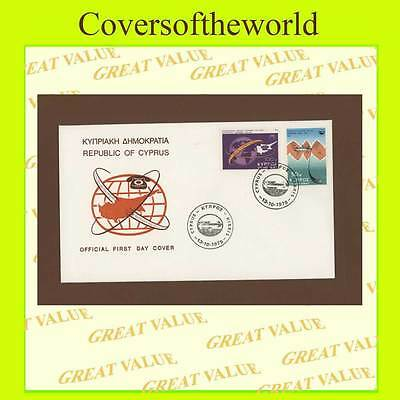 Cyprus 1975 Telecom set First Day Cover, Map/Logo design