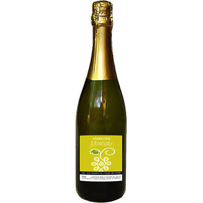 Sparkling Moscato, Cleanskin Sweet Sparkling Wine x 12