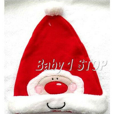 Baby Santa / Father Christmas Hat with Pom Pom Cute Unisex Design Choice of size