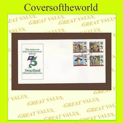 Swaziland 1982 75th Anniversary of Scout Movement set First day Cover