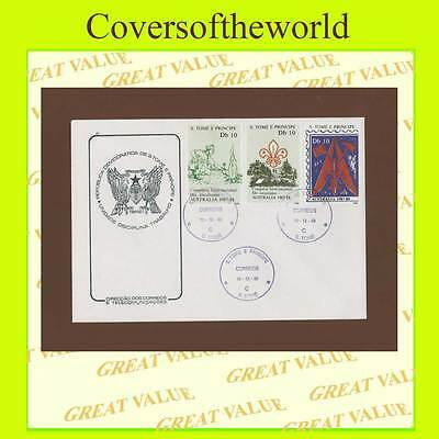 St Thomas & Principe 1988 Australian Scout Congress set First Day Cover