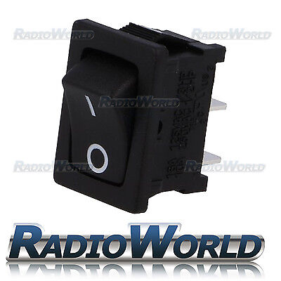 12V 16A Black Mini Rectangle Rocker Switch Car / Dash Light Door ON/OFF SPDT I 0