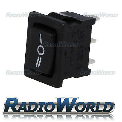 SPDT 12v 16A Mini Rectangle Rocker Switch Car / Boat Dash Light ON/OFF/ON I 0 II