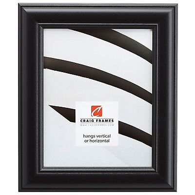 "Craig Frames Dakota, 1.75"" Satin Black Picture Frame"