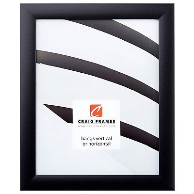 """Picture Frame Contemporary Solid Black 1"""" Wide Complete New Frame"""