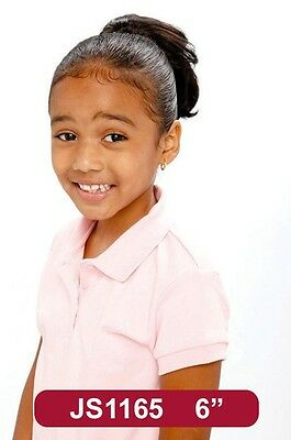 """7"""" Synthetic Hair Clip on Drawstring Ponytail -For Kids #1165"""