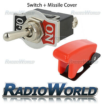 Missile Style Toggle Flick Switch 12V ON/OFF Car Dash Light Metal 12 Volt SPST