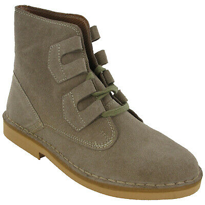 Roamers Ghillie Desert Boots Mens Tie Lace Up Real Suede Leather M327 UK6-12