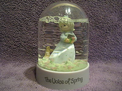 Precious Moments Snow Dome Waterball 1995 The Voice of Spring