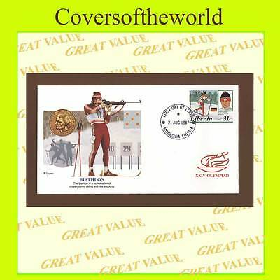 Liberia 1987 31c Olympics Games Biathlon First Day Cover