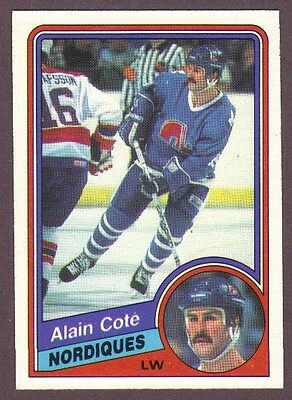 1984-85 O-Pee-Chee OPC Hockey Alain Cote #278 Quebec Nordiques NM/MT